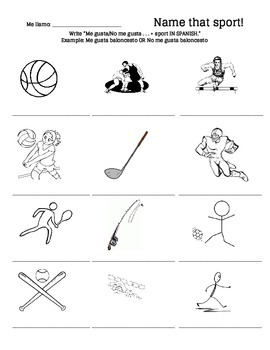 Name That Spanish Sport!