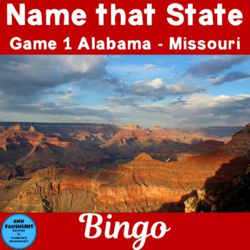 Name That State Game 1 (Alabama - Missouri)