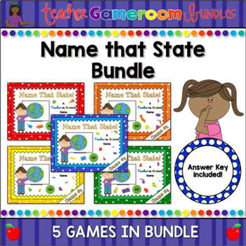 Name That State Powerpoint Game Bundle
