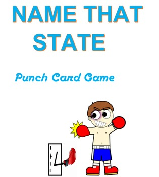 Name That State  Punched Card Game