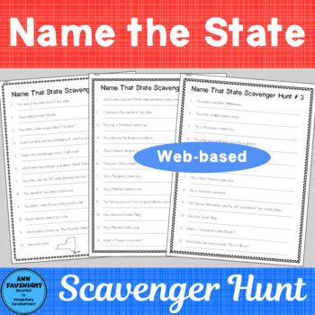 Name That State Web-Based Scavenger Hunts