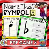 Name That Symbol 3 - Accidentals & Articulation (PDF Game