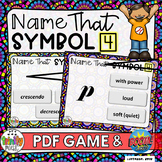 Name That Symbol 4 - Dynamics (PDF Game & Boom Digital Task Cards)