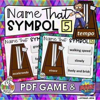 Name That Symbol 5 - Tempo (PDF Game & Boom Digital Task Cards)