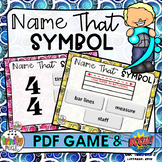 Name That Symbol (PDF Game & Boom Digital Task Cards)