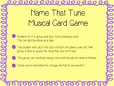 Name That Tune Card Game
