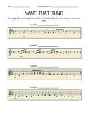 Name That Tune Solfege Worksheet