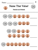 Name That Value - Counting Coins Pack - Pennies, Nickels, Dimes Differentiated !