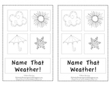 Name That Weather-Emergent Reader for Kindergarten or First
