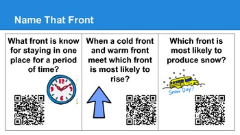Name That Weather Front Cards QR Codes