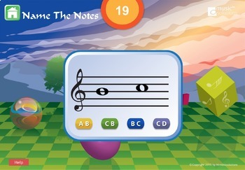 Name The Notes Interactive Music Activity