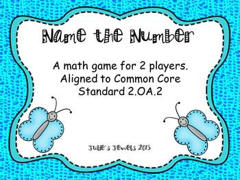 Name The Number Card Game