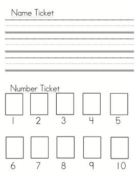 Name Ticket & Printing Practice