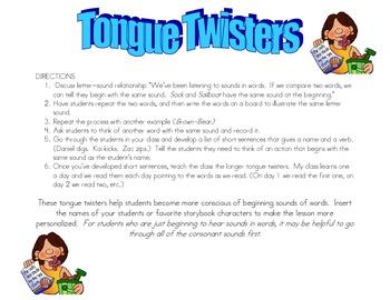 Name Tongue Twisters