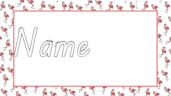 Name Trace - Flamingo Theme Editable
