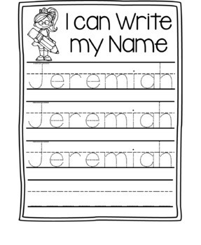 name writing practice name trace paper editable by early childhood creations. Black Bedroom Furniture Sets. Home Design Ideas