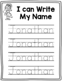 Name Writing Practice- Name Trace Paper (Editable)