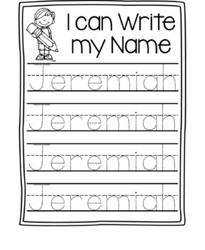 Name Writing Practice- Name Trace Paper (Editable) by ...