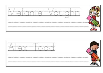 Name Writing Practice- Name Trace Paper-- Editable