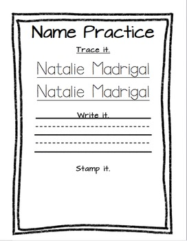 Name Trace, Write, and Stamp