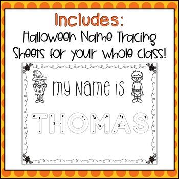 Name Tracing Practice (Custom-Made, Halloween Theme)