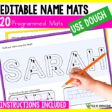 Name Tracing Letter Formation and Playdough Mats - Editable