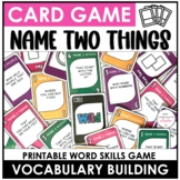 Vocabulary Building Card Game for ELL's: People, Places, T