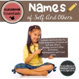 Name Practice Back To School Writing Names of Self and Others