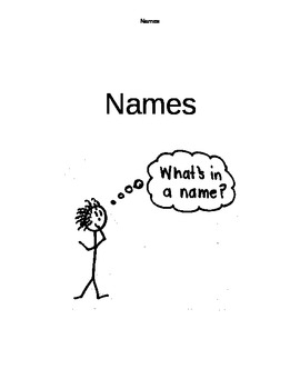 Name Unit for Primary Students
