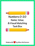 Name, Value, and Visual Matching Task Box for Numbers 0-20