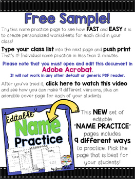 Name Worksheet - FREE by Play to Learn Preschool | TpT