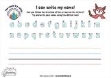 Name Writing Activity Sheet