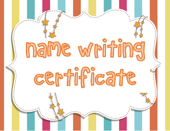 Name Writing Certificate
