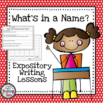 Name Writing Expository Lessons