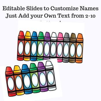 Name Activities for Kindergarten Editable