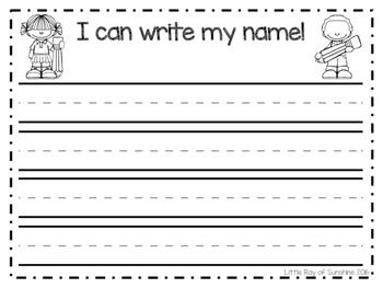 Name Writing - I Can Write My Name
