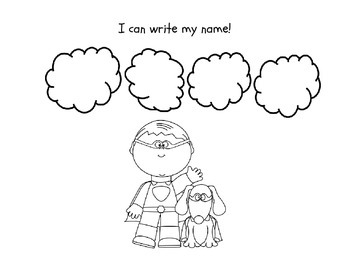 Name Writing Incentive Sheet for Girls and Boys (3-9 letters long)