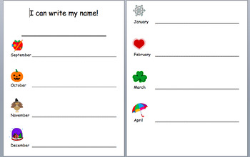 Name Writing Monthly Assessment/Practice