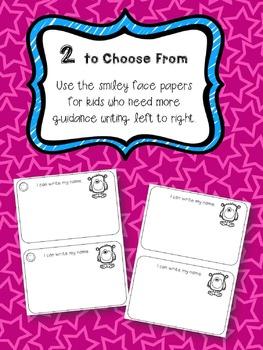 Name Writing Morning Worksheets in Pre-K/Prek/Preschool/Kindergarten