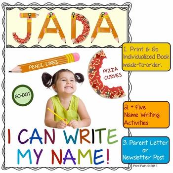 Name Writing: No-Prep, Individualized Book made-to-order, +5 Name Writing Tasks