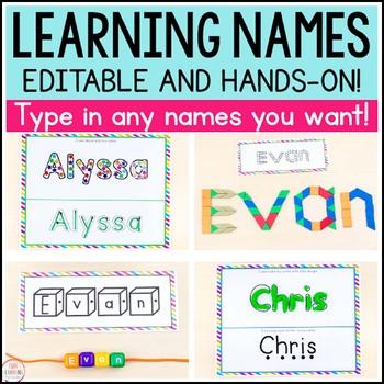 Editable Name Writing Practice Activities
