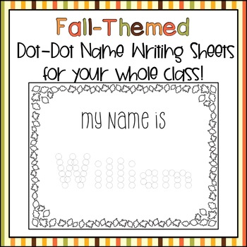 Fall Name Writing Practice (Customized)