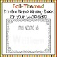 Fall-Themed, Dot-Dot, Name Writing Practice (Custom Order)