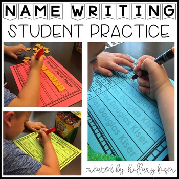 Name Writing Practice (Editable)