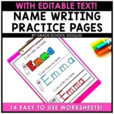 Name Writing Practice Editable