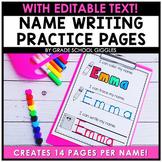 Name Writing Practice Editable