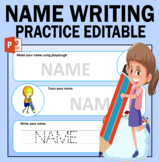 Name Writing Practice Editable : Playdough Mats And Name Tracing