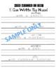 Name Writing Practice, I Can Write My Name 4pg Bundle