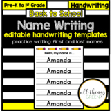 Name Writing Practice {editable templates}