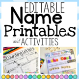 Name Writing Printables and Activities EDITABLE